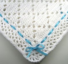 Ravelry: Diamond Lace Baby Aghan pattern by the Jewell's Handmades.