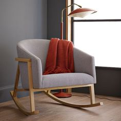 Scandi-inspired Ryder Rocking Chair for nursery.  Too bad the boys are past the up-all-night-rocking age.  This is exactly what I was looking for.  Now, Ikea for them.  Poor me.  West Elm.  600.