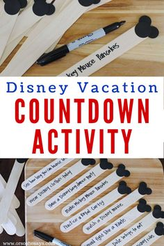 This Disney Countdown Activity is so fun! Get the kids excited for their Disney vacation by doing a simple Disney activity each day! Disney Activities, Disney Games, Disney Day, Disney Tips, Disney Planning, Disney Food, Disney Magic, Walt Disney, Disney World Parks