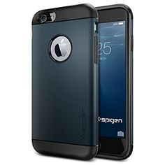 nice iPhone 6 Case, Spigen Slim Armor Case for iPhone 6 (4.7-Inch) – Retail Packaging –  Metal Slate (SGP11169)