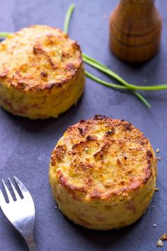 David Lebovitz suggests swaping crips bacon for the ham. easy-mashed-potato-cakes-recipe
