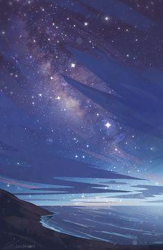 Shoreline Art Print by zandraart - X-Small Cute Backgrounds, Aesthetic Backgrounds, Aesthetic Iphone Wallpaper, Phone Backgrounds, Aesthetic Wallpapers, Cute Wallpapers, Pastel Wallpaper, Galaxy Wallpaper, Cool Wallpaper