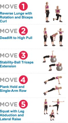 Whole body workout 15 reps, repeat 3x
