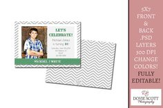 #Photo #Card Template for Photographers  Set of 2 by DovieScottPhoto, $3.79 #birthday #boy #template