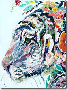 T for Tiger | color painting #art