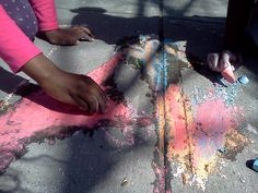 water + chalk experiment