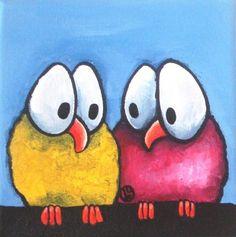 Whimsical birds