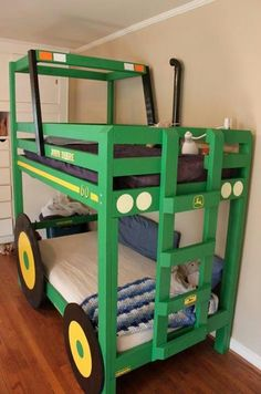 Kids Bed - William would go crazy for this green tractor bed! :)