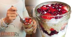 Quinoa Greek Parfait - On-the-go Breakfast Under 300 Calories