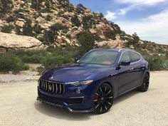 Maserati Levante with carbon fibre body accents Maserati Sports Car, Maserati Car, Maserati Ghibli, Fast Sports Cars, Sport Cars, Luxury Car Brands, Luxury Cars, Weird Cars, Cool Cars