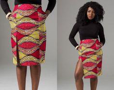 African print pencil skirt, peplum skirt African Print Skirt, Wax print skirt, Ankara pencil Skirt, Ankara African Print Skirt African Skirt