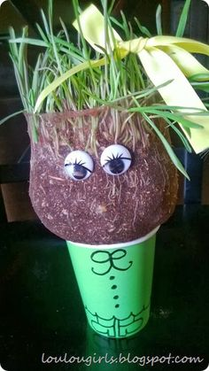 Get your kids excited about gardening in an easy way with the Homemade Chia Pet!