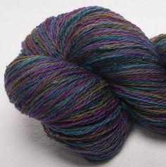 Hand painted Merino 90% slub Tussah Silk 10 heavy by YummyYarnsUK