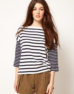 Enlarge French Connection Sardenia Stripe Top
