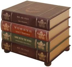 Coffee Table That Looks Like A Stack Of Leatherbound Books   $300  (Huntington Beach) | For The Home | Pinterest | Huntington Beach, Coffee  And Vermont
