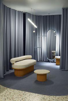 Interior Design Major, Showroom Interior Design, Interior Color Schemes, Boutique Interior, Studio Interior, Retail Interior, Best Interior, Unique Furniture, Contemporary Furniture