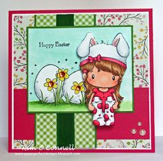 """C.C. Designs """"Swiss Pixie Bunny Lucy"""" and """"Spring Has Sprung"""" rubber stamps"""