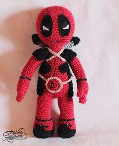 DeadPool toy - free crochet pattern at Atelier Handmade.
