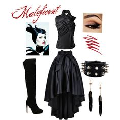 Maleficent outfit by haliekitty on Polyvore featuring polyvore, fashion, style, Bouchra Jarrar, Boohoo and NARS Cosmetics