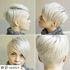 "Gefällt 190 Mal, 24 Kommentare - Sarah Kirsch (@sarahchambray) auf Instagram: ""Another fun cut on Sarah! @sarahb.h @bishopsbarbershop #pixie"""