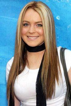 Lindsay Lohan Long Straight Cut Hairstyles