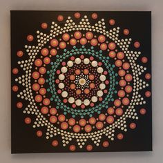 30 x 30 cm. Acrylic Painting Canvas, Dots, Tapestry, Hand Painted, Design, Home Decor, Hanging Tapestry, Homemade Home Decor, Tapestries