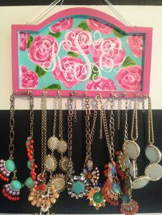 Monogrammed Lilly Pulitzer Inspired Necklace Holder