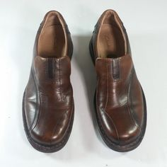 bce479e973e Clarks 70846 Escalade Men Brown Leather Slip On Casual Loafer Shoe 11.5  Medium  Clarks