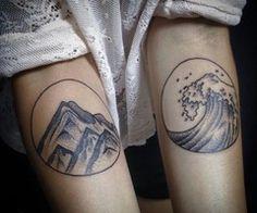 tidal wave tattoos - Google Search
