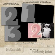 Photo Cards by Numbers