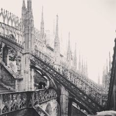 A photo this magnificent is well worth the stair-climb at Il Duomo cathedral in #Milan. Photo courtesy of ayyyro on Instagram.