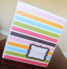 """LOVE this website. Great meal ideas. My goal this summer....to make a """"Recipe"""" Binder like this!"""