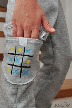 Spodnie malowane farbami wraz z dziećmi/ how to involve kids in sewing