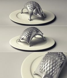 Upon searchine for a porcupine meatball recipe I came across this oh-so-cute kitchen gadget! Porcupine cheese grater.
