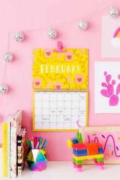 2018 Free Printable Wall Calendar | studiodiy.com
