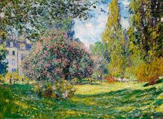 Monet 1876, Landscape The Parc Monceau, Fade Resistant HD Art Print or Canvas in Art, Prints | eBay