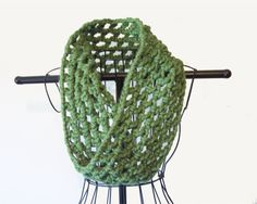 Sage Green Chunky Cowl Crochet