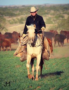 Cowboy - Tom Moorhouse - Palomino - Tongue River Ranch