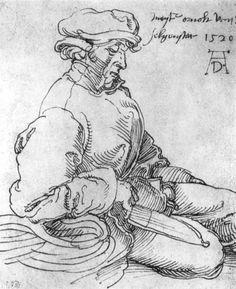 Albrecht Dürer - Portrait of the Blessed Arnold Illustrations, Illustration Art, Art Blanc, Albrecht Dürer, Renaissance Kunst, Jan Van Eyck, Landsknecht, Italy Art, Portrait Sketches