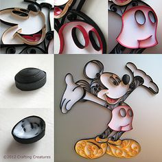 Crafting Creatures: Quilled Mickey Mouse