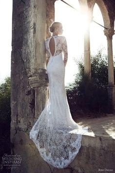 riki dalal 2013 long sleeve wedding dress/bridal gown.