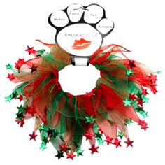 Christmas Stars Style Pet Smoocher (S,M,L,XL) Mirage Pet Products, New with Tags #MiragePets