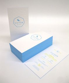 Letterpress birth announcement, debossing + 2 colors + edge painting by polyprint24.be