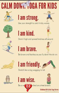 Calm Down Yoga Routine for Kids: Printable Calm Down Yoga Poses for Kids<br> Calm Down Yoga Routine for kids, perfect for helping children learn to manage big emotions. Complete with free printable poster. Yin Yoga, Yoga Meditation, Yoga Bewegungen, Yoga Flow, Kundalini Yoga, Yoga Poses For Two, Kids Yoga Poses, Yoga Poses For Beginners, Yoga For Kids