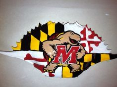 Maryland Terps Crab shell ornament from Designs by noodle. http://designsbynoodle.com/ornaments/maryland-terp-crab-shell/
