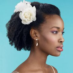 African American wedding hairstyle - short natural hair. Tags: african american, natural wedding hairstyles, black wedding hairstyles