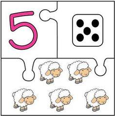 Puzzles descargables para relacionar números y cantidad. Mírame y aprenderás en Facebook Preschool Learning Activities, Preschool Worksheets, Kindergarten Math, Teaching Math, Toddler Activities, Preschool Activities, Kids Learning, Math Sheets, Tot School