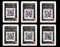 12 signets iPad-Histoires AUDIO avec Codes QR French Teaching Resources, Teaching French, Teaching Ideas, Free Qr Code, Core French, Ipad, Early Reading, French Immersion, French Teacher