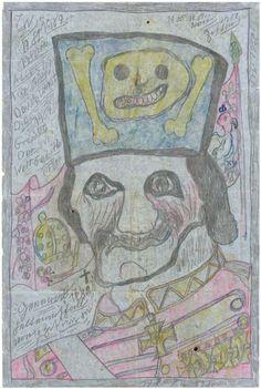 Theodor Wagemann (1918-1998), Germany    General Feld-Marschall von Zitten,  1981   coloured pencil on paper   37,5 x 25 cm   © photo credit  Collection de l'Art Brut, Lausanne