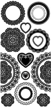 Kaisercraft - Timeless Collection - Rub Ons - Doilies at Scrapbook.com $2.49